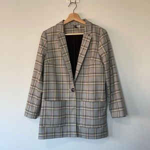NWOT H&M Plaid Jersey Blazer
